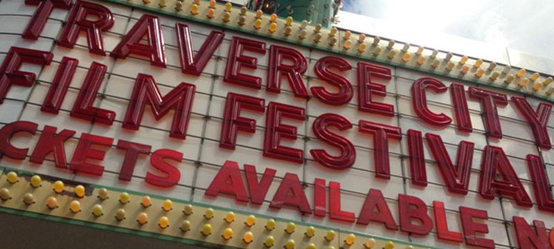 traverse city film festival sign