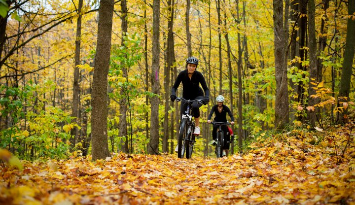 Biking on the Glacial Hills Natural Pathway