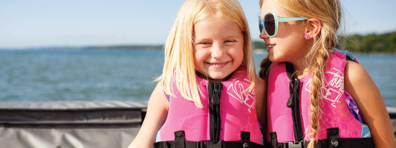 Little Girls sitting on boat