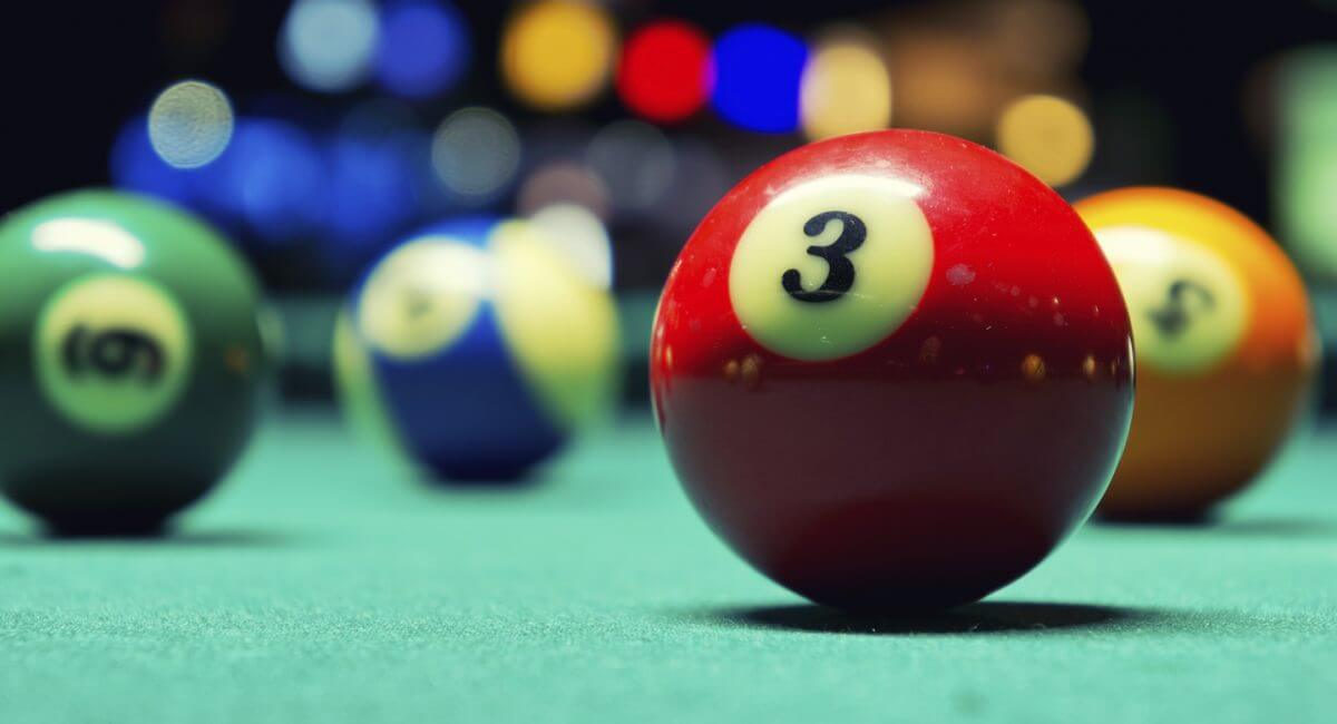 Pool Balls on Pool Table at River Bistro