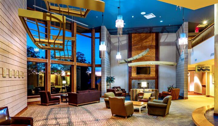 The Lodge at Cedar River lobby