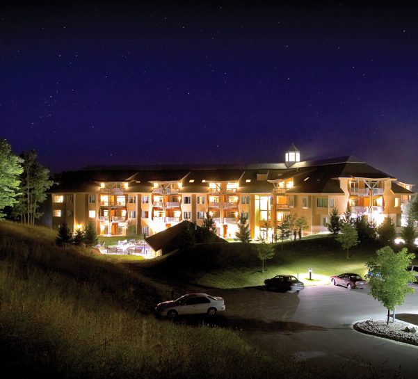The Lodge at Cedar River at Night