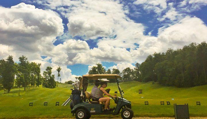 Golf Cart at Cedar River Driving Range
