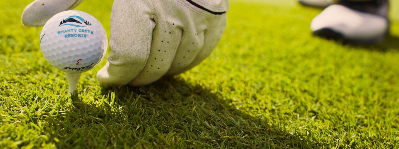 Shanty Creek Golf Ball on Tee