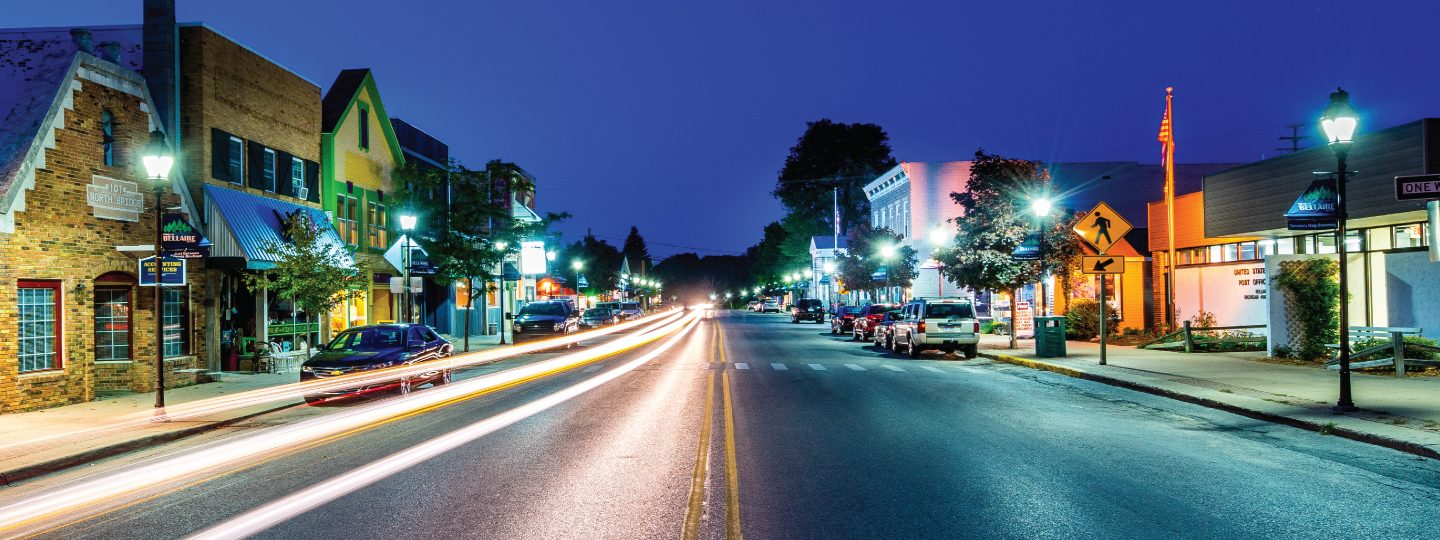 Downtown Bellaire at Night