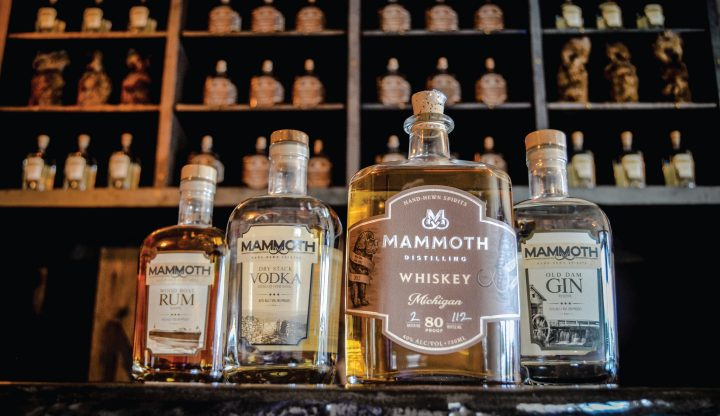 Mammoth Distiling spirits on bar