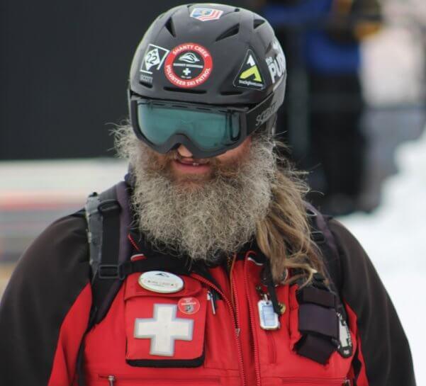 male ski patroler