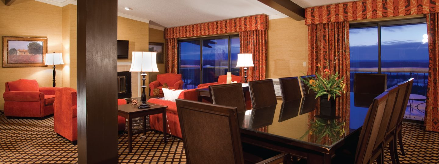 Lakeview Presidential Suite Living and Dining Areas