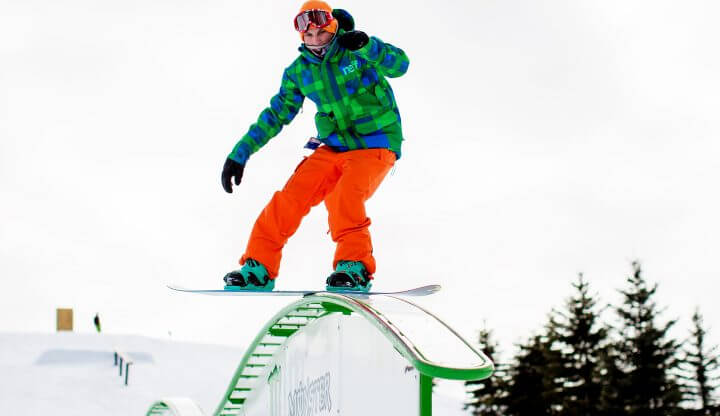 Boarder in Purple Daze Terrain Park