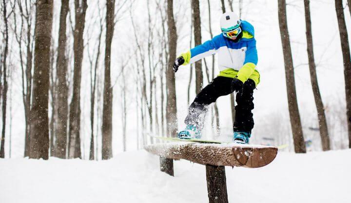 Snowboarder in Natty Park