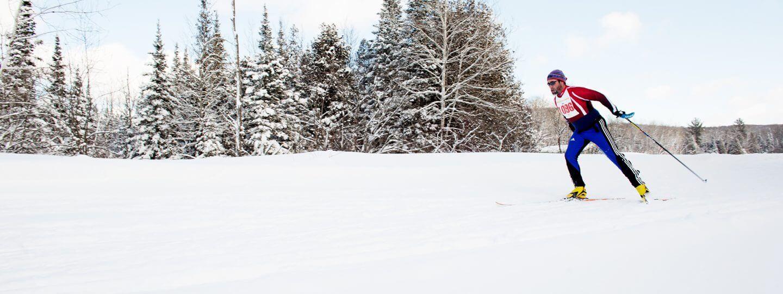White Pine Stampede skier