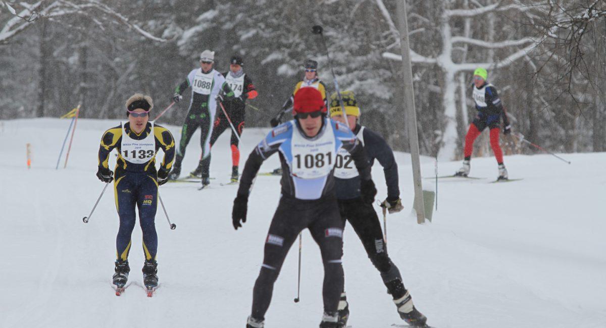 White Pine Stampede skiers