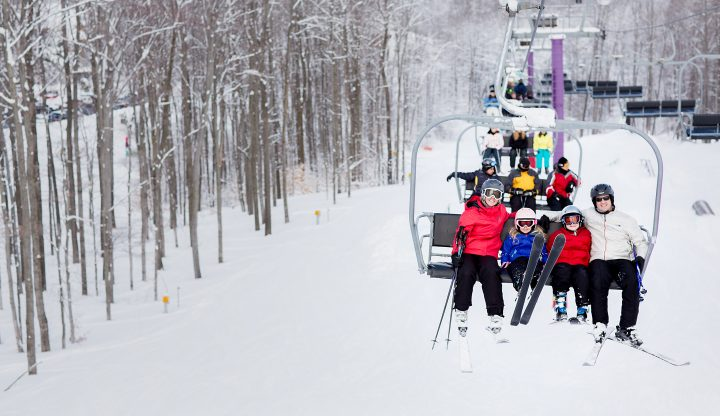 Family on Purple Chairlift