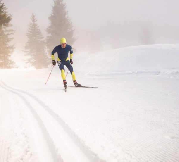 Male nordic skier