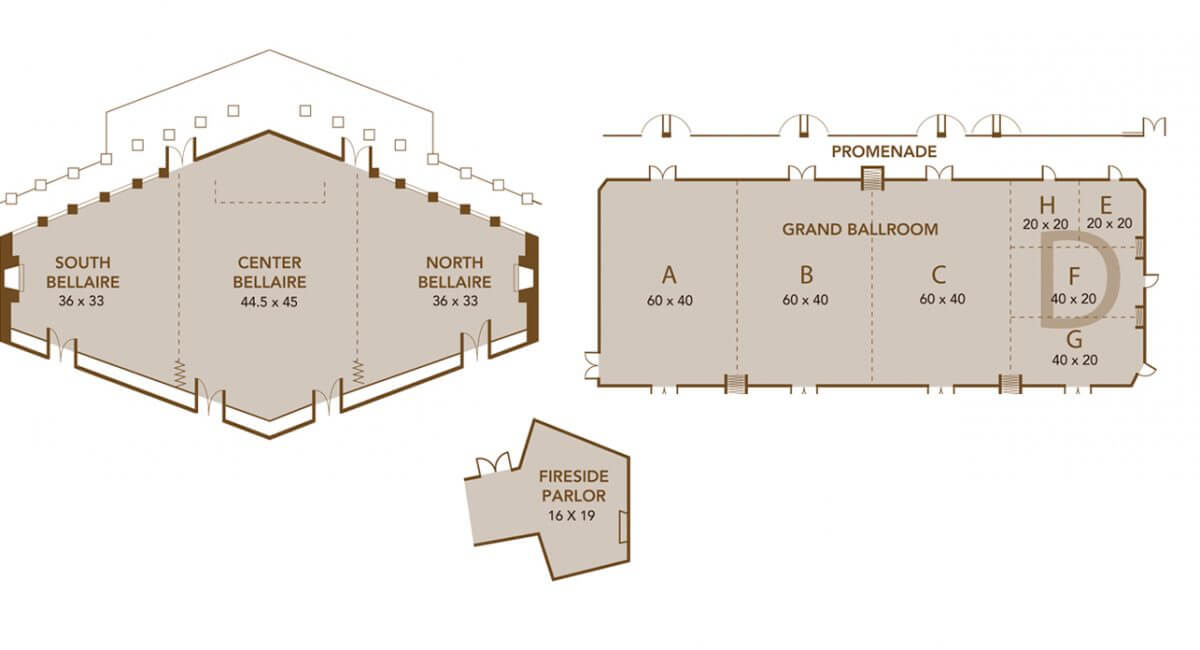 The Lakeview Hotel Function Space Map
