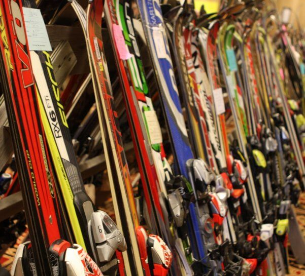 Plenty of gear available annually at the Antrim Ski Academy ski swap at Shanty Creek Resort