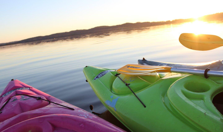 Kayaks on Lake Bellaire