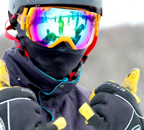 Portrait of Skier with Gloves