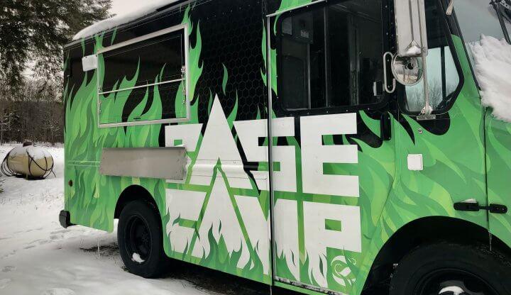 Base Camp food truck at Schuss Mtn